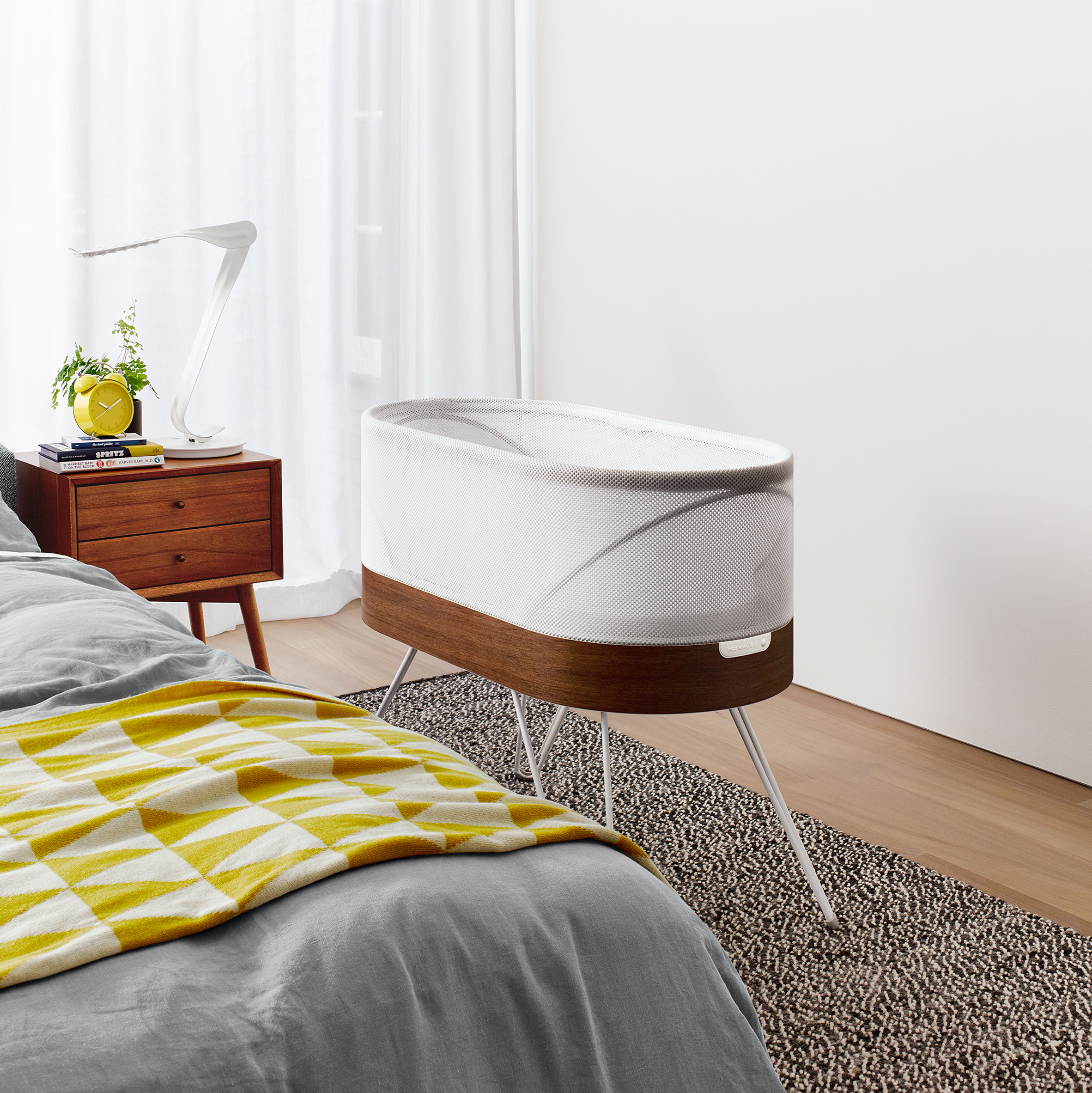 Fabric-covered gadgets: Snoo crib