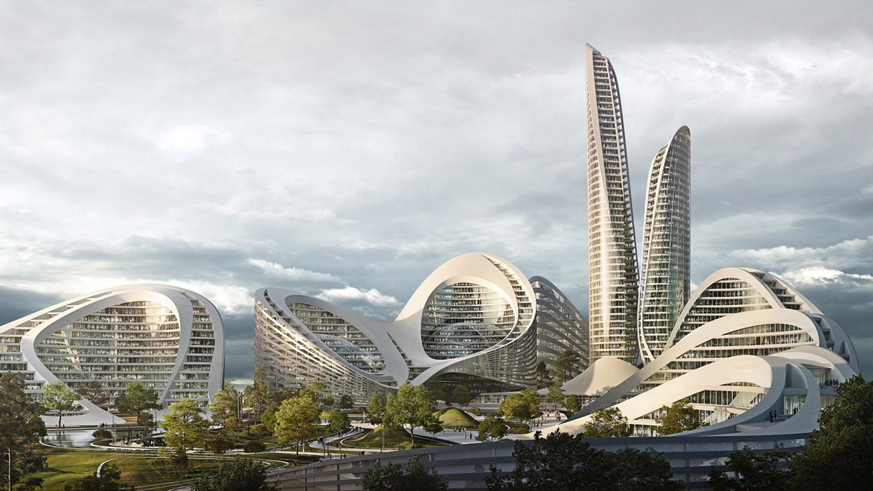 dezeen.com - India Block - Zaha Hadid Architects to design new smart city outside Moscow