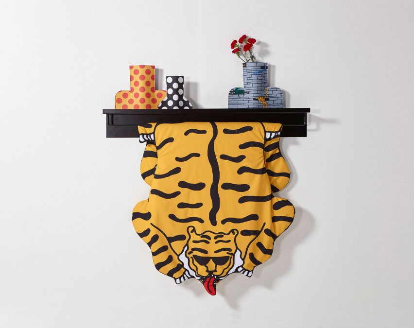 Egle Zvirblyte creates blankets for Sancal patterned with tigers and bananas