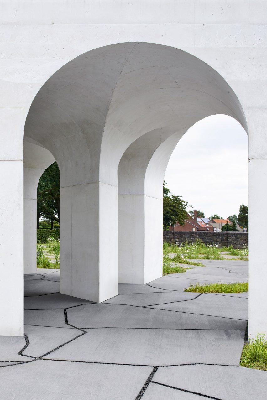 Six Vaults Pavilion by Gijs Van Vaerenbergh
