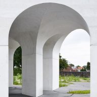 Gijs Van Vaerenbergh creates Six Vaults Pavilion out of poured concrete