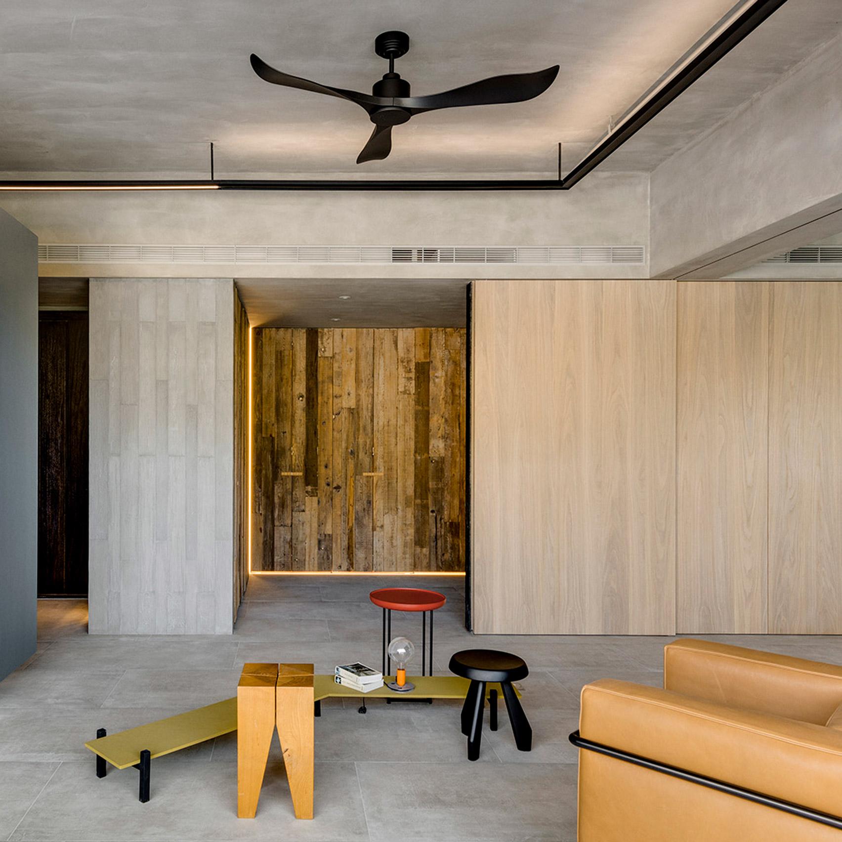 Dezeen's top 10 home interiors of 2018: Din-a-ka apartment