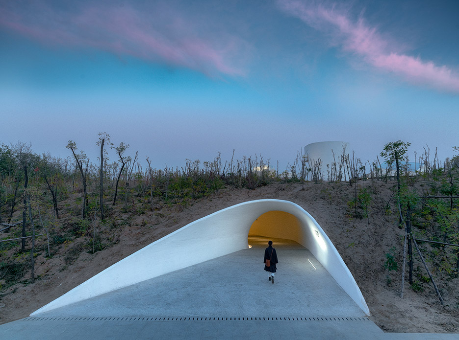 Entrance to UCCA Dune Art Museum by OPEN Architecture