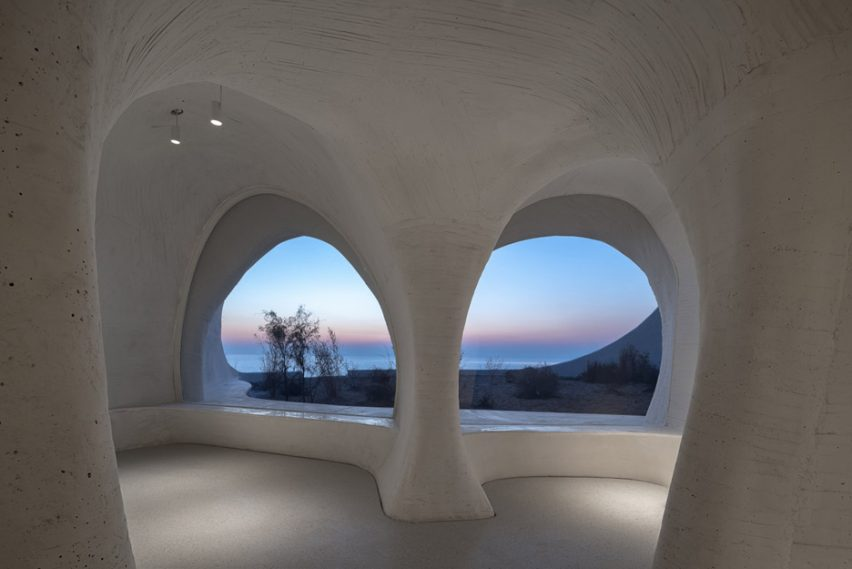 Windows of UCCA Dune Art Museum by OPEN Architecture