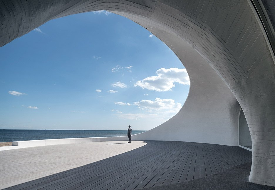 Terrace of UCCA Dune Art Museum by OPEN Architecture