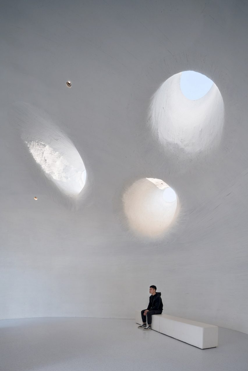 Skylights in UCCA Dune Art Museum by OPEN Architecture