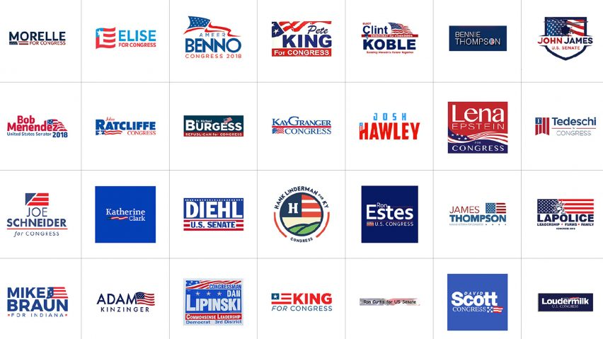 US midterm elections logos compiled into searchable database
