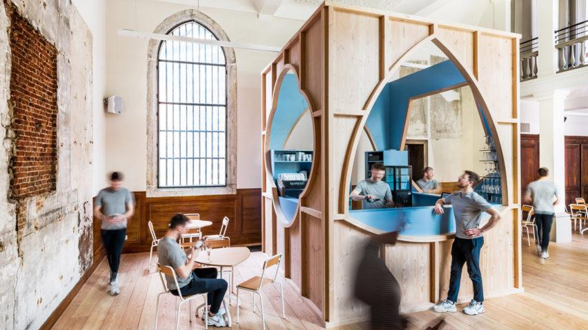 De Plek cafe in Antwerp Cathedral by Van Staeyen