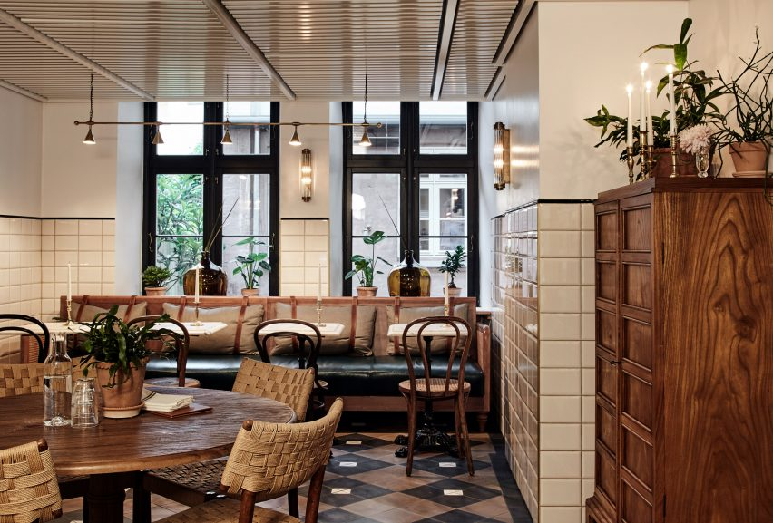 Sanders Kitchen, a deli-cafe at Hotel Sanders in Copenhagen, designed by Lind + Almond