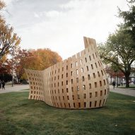 Students erect robotically fabricated wooden bench on Vancouver university campus
