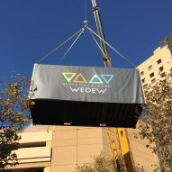 WEDEW turns air into drinking water by creating artificial clouds in shipping container