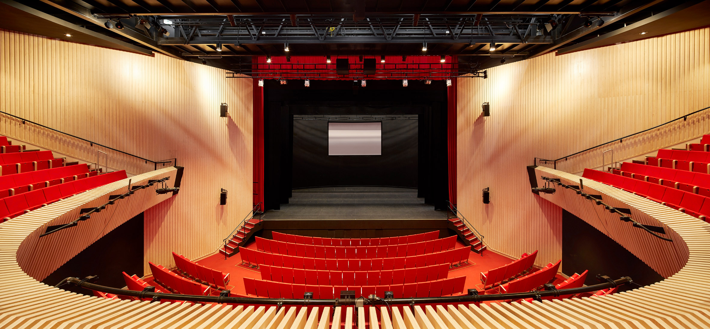 Theatre inside of Wellington College Performing Arts Centre by Studio Seilern Architects