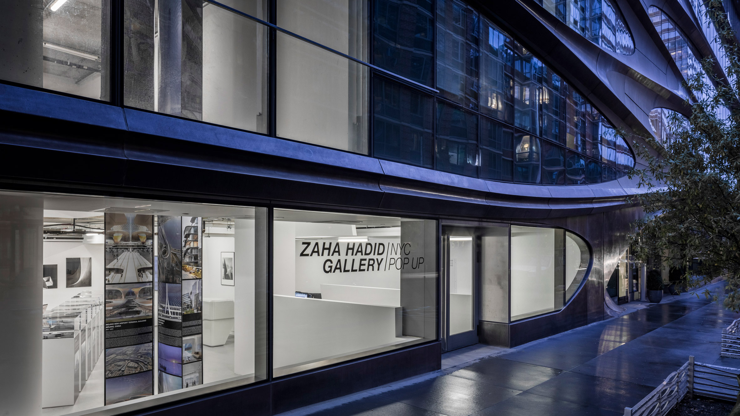 Zaha Hadid Architects opens pop-up gallery in New York City