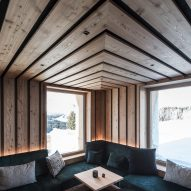 Interior shot of Zallinger Retreat by Network of Architecture (NOA) in Tyrol, Italy
