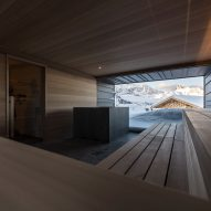 Sauna in Zallinger Retreat by Network of Architecture (NOA) in Tyrol, Italy