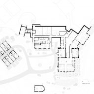 Ground floor plan of Zallinger Retreat by Network of Architecture (NOA) in Tyrol, Italy