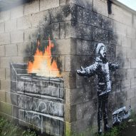 Banksy paints Season's Greetings mural on Port Talbot garage