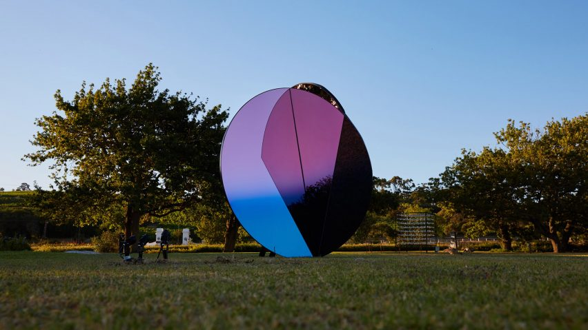 Folded Skies installation by Counterspace at Spier Light Art Festival