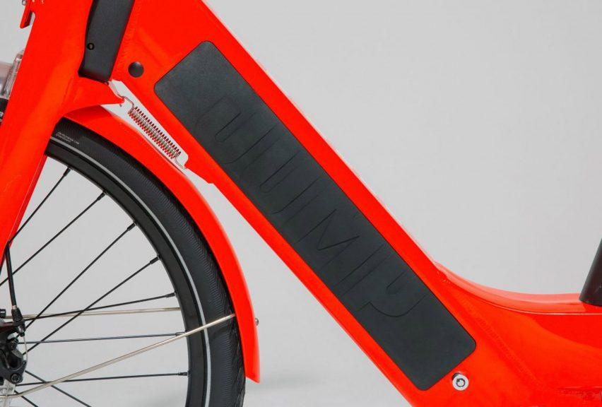 87913d405a9 Uber reveals redesigned Jump electric share bikes | Dezeen