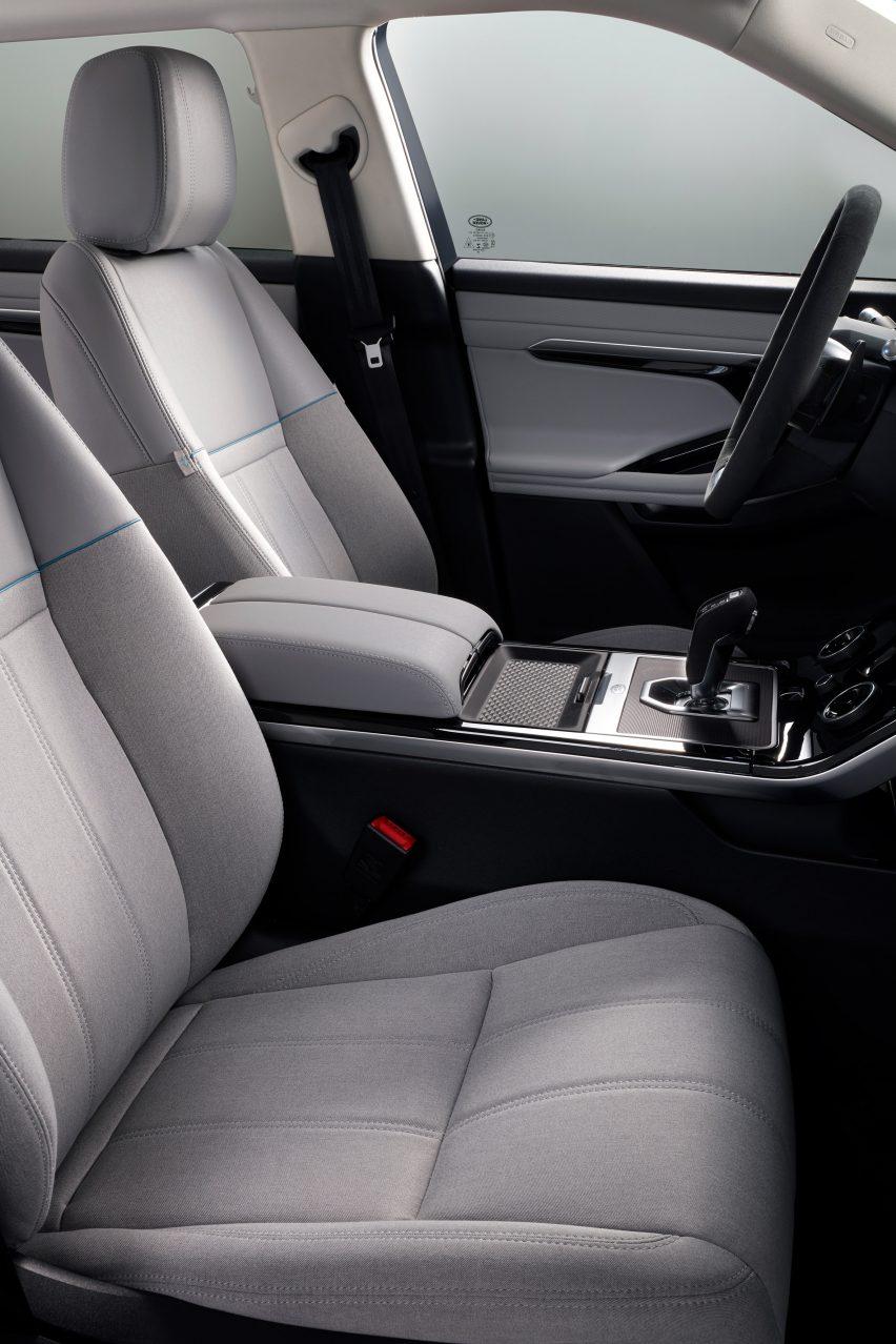 New Range Rover Evoque featuring Eucalyptus Melange upholstery