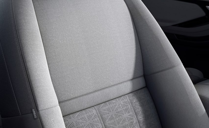 New Range Rover Evoque featuring Kvadrat wool-blend upholstery