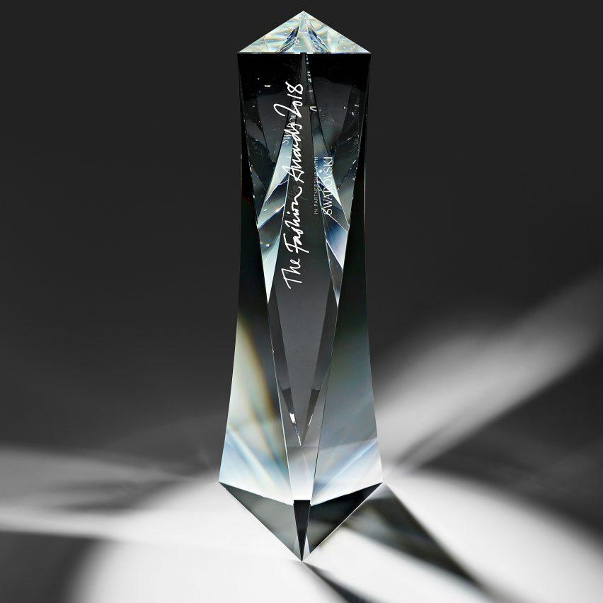Seven trophy designs: Fashion Awards 2018 trophy by David Adjaye