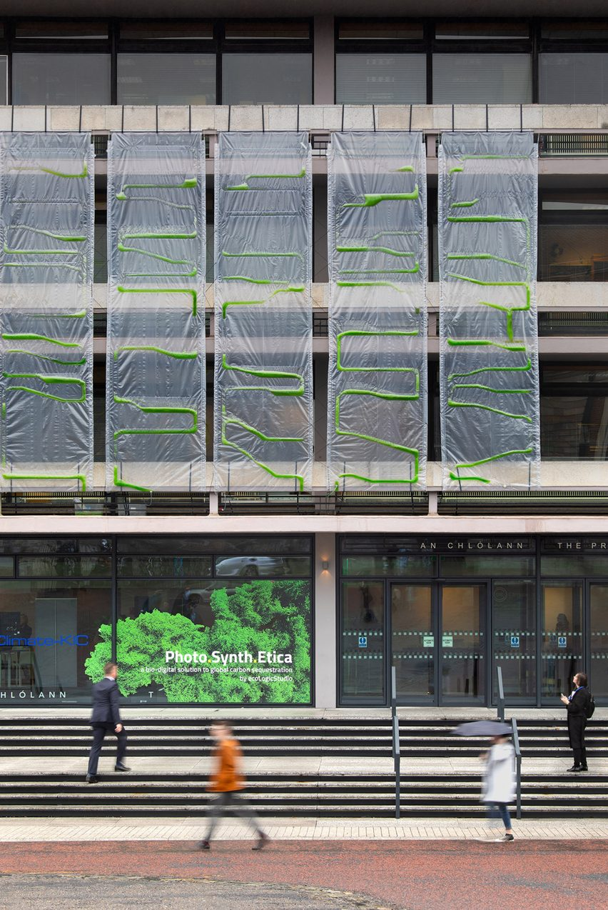 Algae curtain by ecoLogicStudio