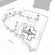 Site plan of Belvedere tower in the Netherlands by René van Zuuk Architekten