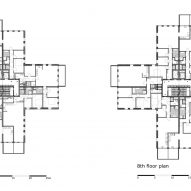 Floor plans of Belvedere tower in the Netherlands by René van Zuuk Architekten