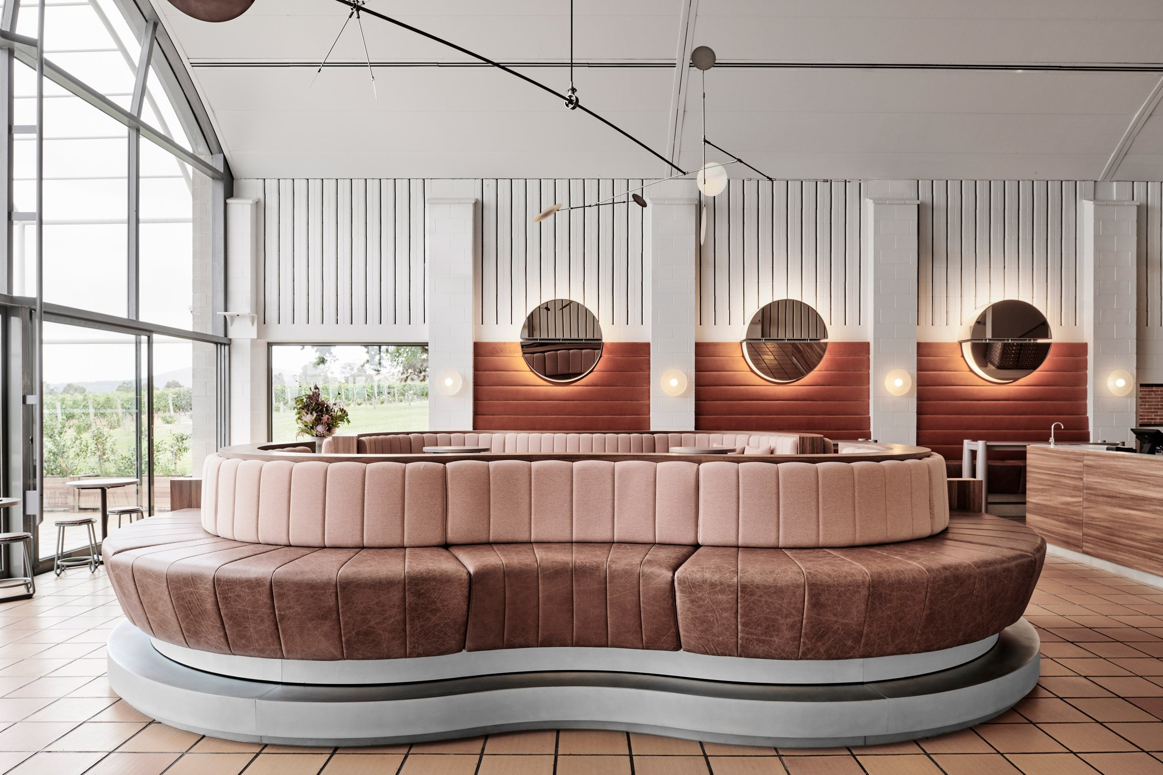 Foolscap Studios creates wine-themed interiors for Domaine Chandon bar in Australia's Yarra Valley