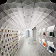 Crinkled tunnel forms Claus Porto's New York boutique by Tacklebox