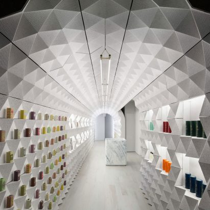 f9cba667e Crinkled tunnel forms Claus Porto's New York boutique by Tacklebox