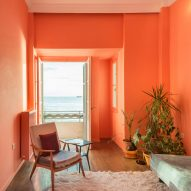 The best coral interiors: Waterfront Nikis apartment by Stamatios Giannikis