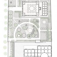 Floor plan of Dandaji Mosque by Atelier Masomi in Western Niger, Africa