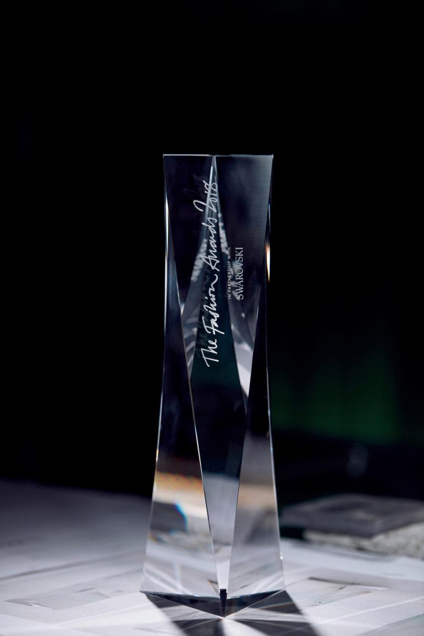 David Adjaye fashion award trophy