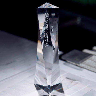 David Adjaye fashion award trophy