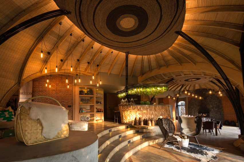 The Bisate Eco Lodge in Rwanda won in the Lodges and Tented Camps category at the 2018 AHEAD MEA Awards