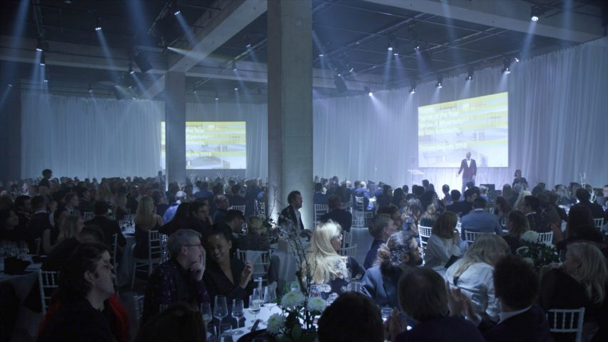 The events concept for the inaugural Dezeen Awards ceremony was designed by architect Sarah Izod