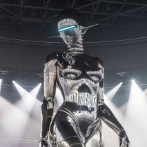 "Hajime Soramaya designed a 12 metre tall sculpture of a""fembot"" for Dior"