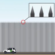"Trump's ""beautiful"" Steel Slat Barrier for Mexican border lampooned by designers"