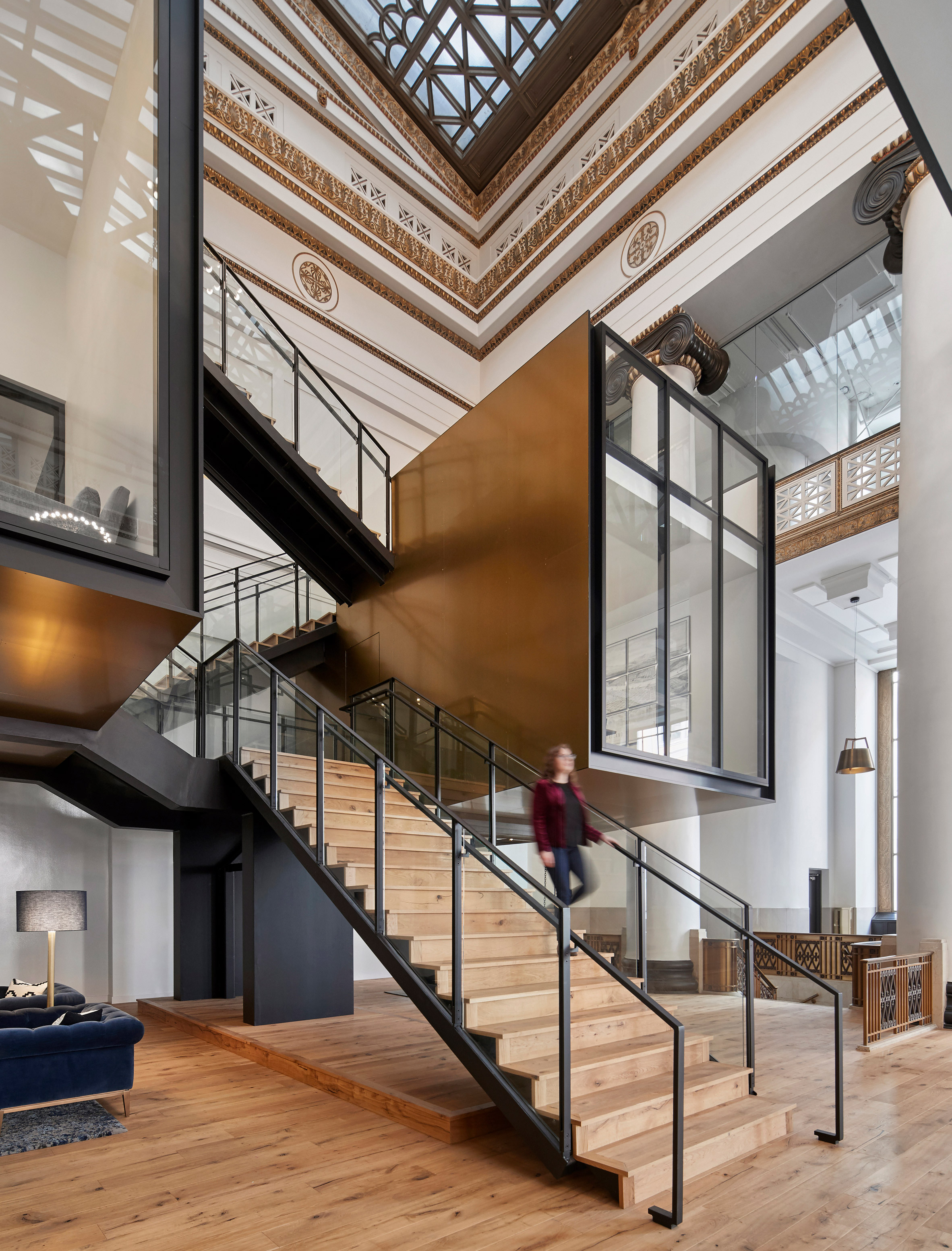ZGF Architects transforms historic Portland bank building into Expensify office