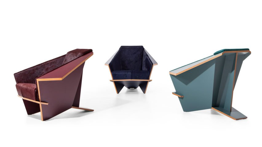 Taliesin chair by Frank Lloyd Wright reissued by Cassina