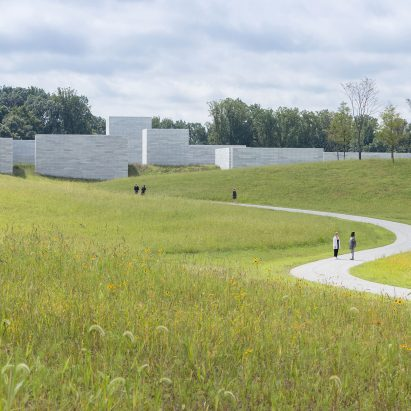 Landscape architecture on the approach to Glenstone Pavilions, Potomac