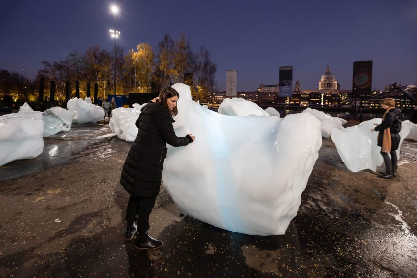 Ice Watch installation by Olafur Eliasson in London