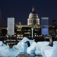 Olafur Eliasson installs giant blocks of glacial ice across London