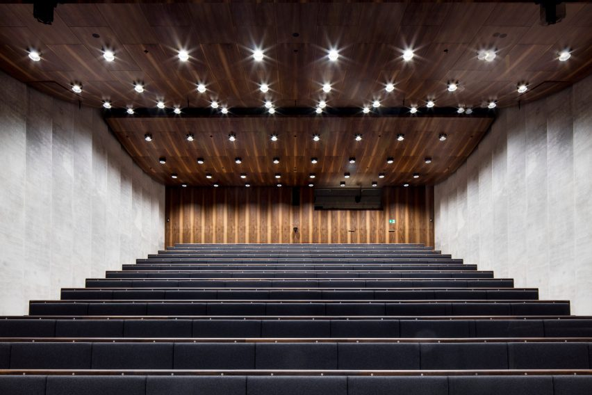 Auditorium of James Simon Galerie in Berlin by David Chipperfield Architects