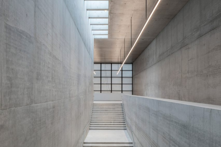 Interior of James Simon Galerie in Berlin by David Chipperfield Architects