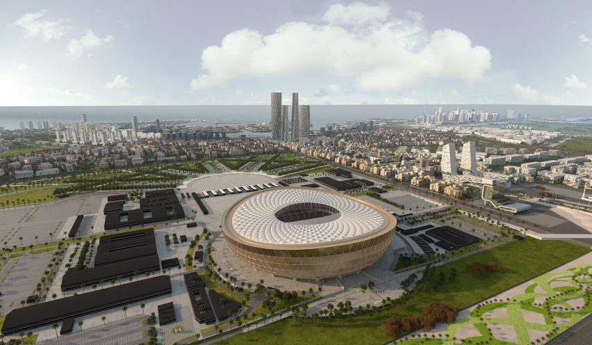 Lusail Stadium for FIFA World Cup 2022 in Qatar by Foster + Partners