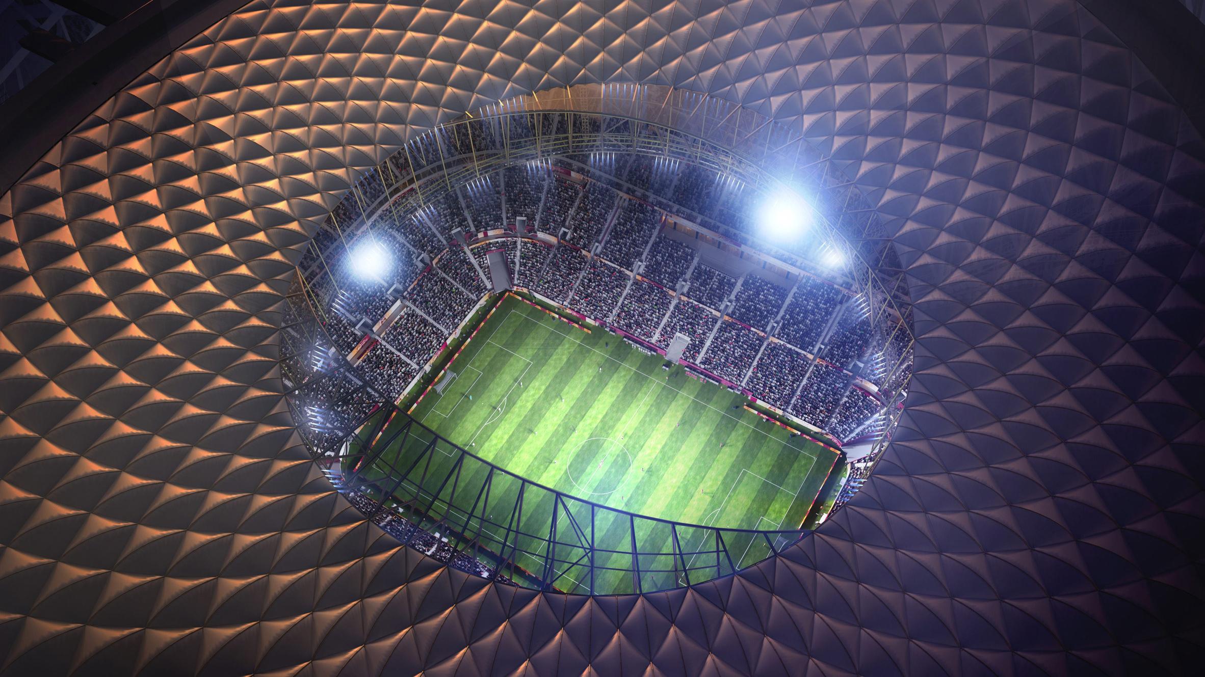 Foster Partners Designs Golden Stadium For Qatar World Cup Final