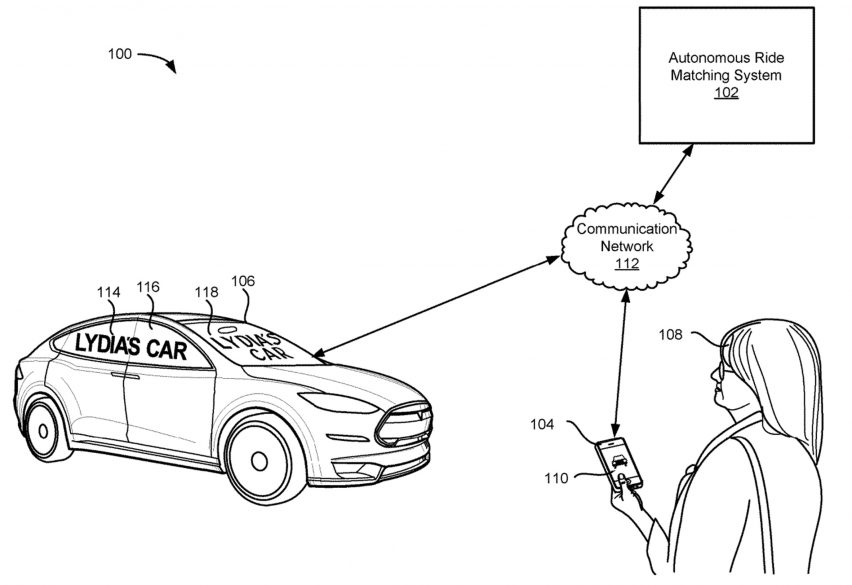 Lyft patent for notification system for self-driving cars